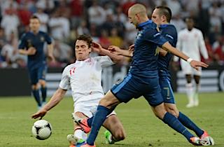 England og Frankrig i skuffende remis